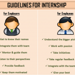 Guideline For Internship